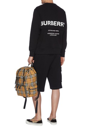 c5af86b1ce7 Figure View - Click To Enlarge - BURBERRY - Horseferry print zip back  sweatshirt