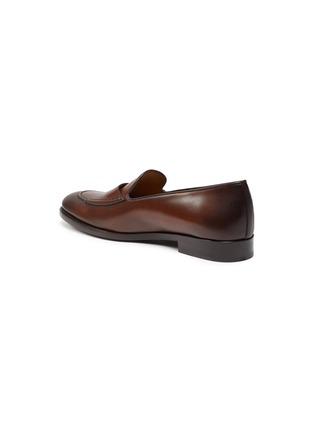 - EDHÈN - 'St Louis' slant monk strap leather shoes