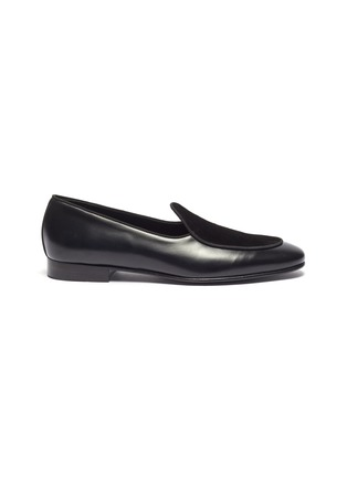 Main View - Click To Enlarge - EDHÈN - 'Kensington' suede panel leather loafers