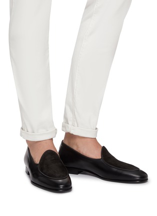 Figure View - Click To Enlarge - EDHÈN - 'Kensington' suede panel leather loafers