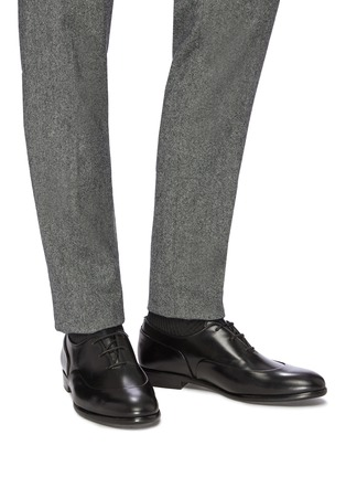 Figure View - Click To Enlarge - EDHÈN - 'Montigne' panelled leather Oxfords