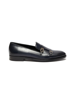 Main View - Click To Enlarge - EDHÈN - 'Park' double monk strap leather shoes