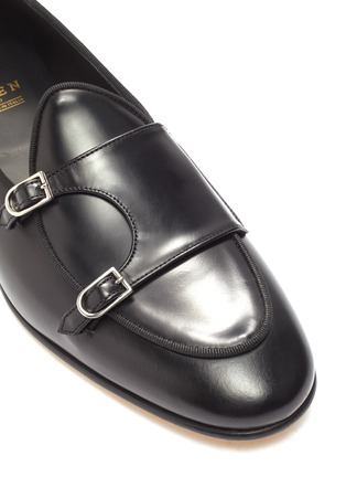 Detail View - Click To Enlarge - EDHÈN - 'Brera' double monk strap leather shoes