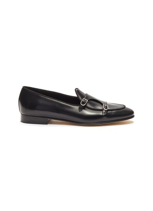 Main View - Click To Enlarge - EDHÈN - 'Brera' double monk strap leather shoes