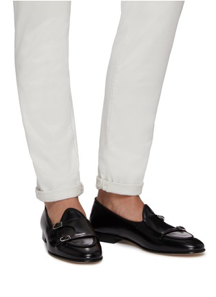 Figure View - Click To Enlarge - EDHÈN - 'Brera' double monk strap leather shoes