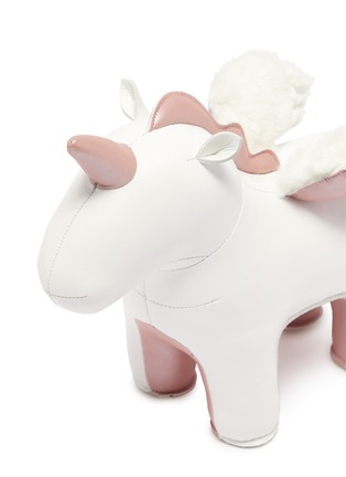 Detail View - Click To Enlarge - ZUNY - Unicorn with wings bookend – Rose Gold
