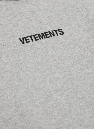 - VETEMENTS - Logo print hoodie