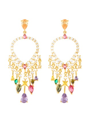 Main View - Click To Enlarge - CZ BY KENNETH JAY LANE - Cubic zirconia fringe drop earrings