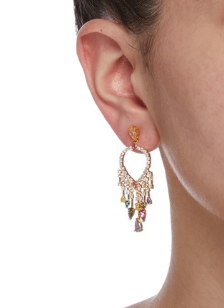 Figure View - Click To Enlarge - CZ BY KENNETH JAY LANE - Cubic zirconia fringe drop earrings
