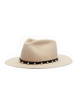 Main View - Click To Enlarge - GLADYS TAMEZ - 'Cher' embellished felt fedora hat