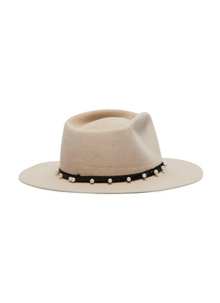Figure View - Click To Enlarge - GLADYS TAMEZ - 'Cher' embellished felt fedora hat