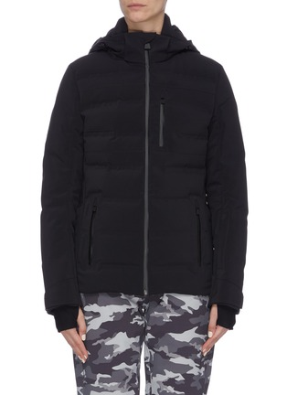 Main View - Click To Enlarge - AZTECH MOUNTAIN - 'Multi Nuke Suit' panel hooded waterproof puffer jacket