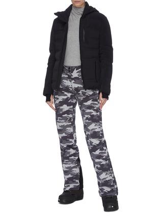 Figure View - Click To Enlarge - AZTECH MOUNTAIN - 'Multi Nuke Suit' panel hooded waterproof puffer jacket