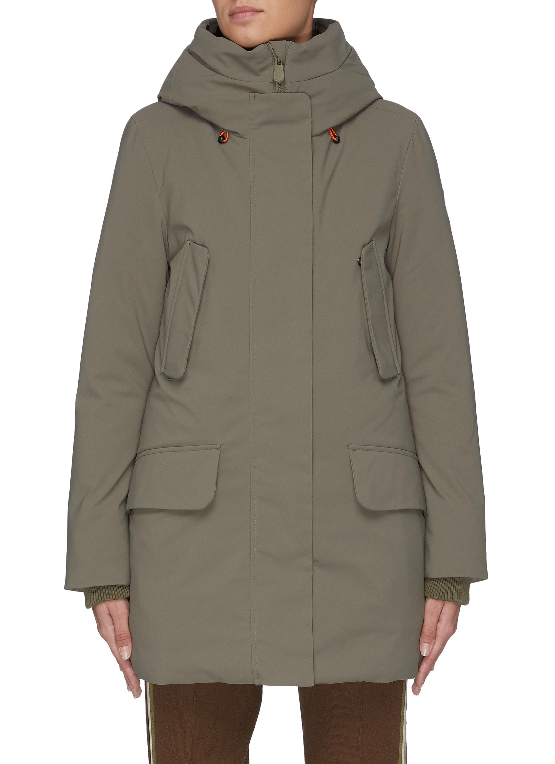 Plumtech® lined hooded puffer parka by Save The Duck