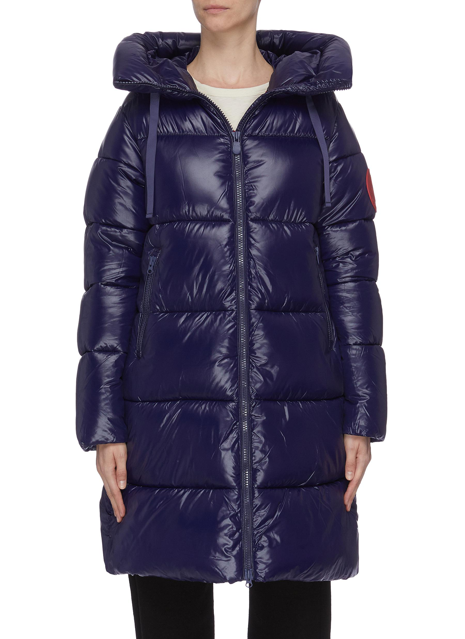Hooded puffer coat by Save The Duck