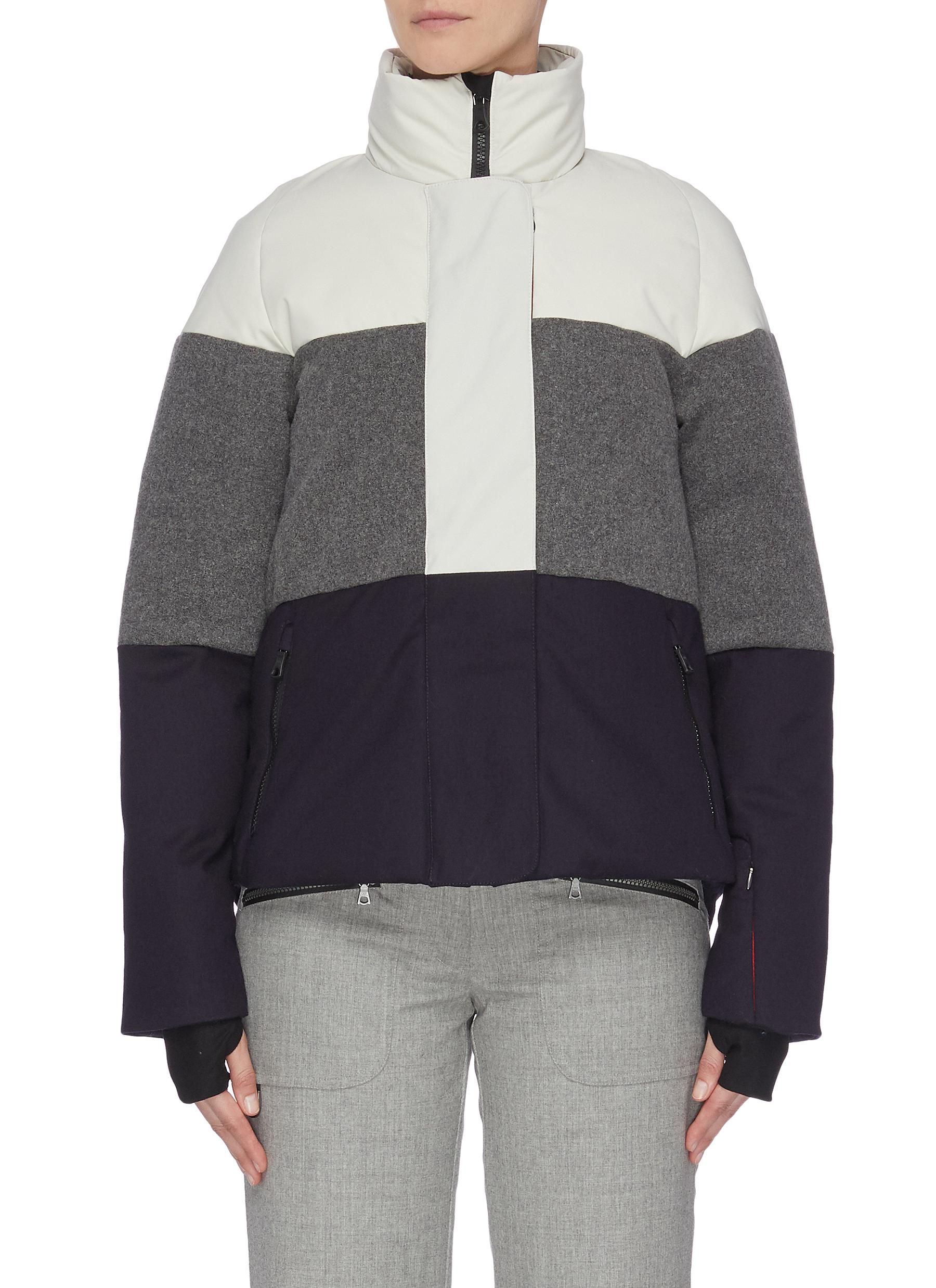 shop Erin Snow 'Lola' colourblock panelled high neck performance jacket online