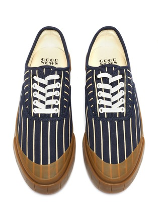 Detail View - Click To Enlarge - GOOD NEWS - 'Hurler 2' pinstripe cotton sneakers