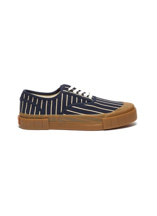 Main View - Click To Enlarge - GOOD NEWS - 'Hurler 2' pinstripe cotton sneakers
