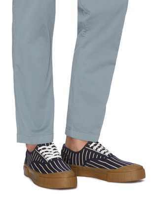Figure View - Click To Enlarge - GOOD NEWS - 'Hurler 2' pinstripe cotton sneakers