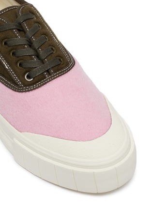 Detail View - Click To Enlarge - GOOD NEWS - 'Babe 2' colourblock cotton sneakers