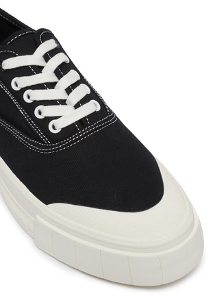 Detail View - Click To Enlarge - GOOD NEWS - 'Bagger 2' contrast topstitching cotton sneakers