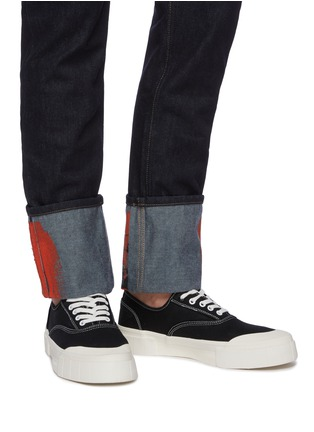 Figure View - Click To Enlarge - GOOD NEWS - 'Bagger 2' contrast topstitching cotton sneakers