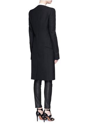 Back View - Click To Enlarge - Haider Ackermann - Satin lapel virgin wool coat