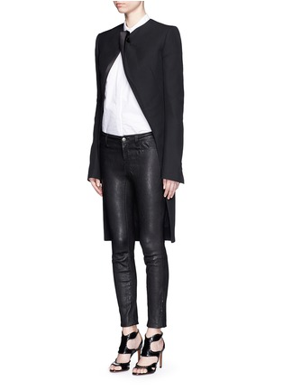 Front View - Click To Enlarge - Haider Ackermann - Satin lapel virgin wool coat