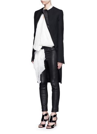 Figure View - Click To Enlarge - Haider Ackermann - Satin lapel virgin wool coat