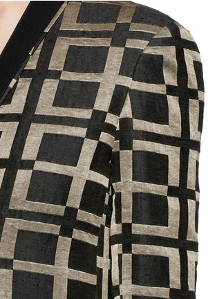 Detail View - Click To Enlarge - HAIDER ACKERMANN - Check jacquard linen-silk coat