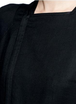 Detail View - Click To Enlarge - HAIDER ACKERMANN - 'Maban' linen-wool biker coat