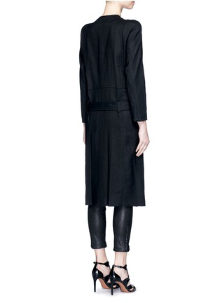 Back View - Click To Enlarge - HAIDER ACKERMANN - 'Maban' linen-wool biker coat