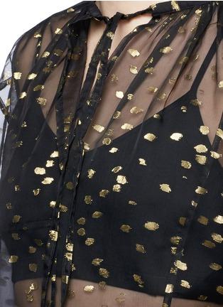Detail View - Click To Enlarge - Haider Ackermann - 'Vachir' metallic thread silk organza blouse