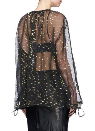 Back View - Click To Enlarge - Haider Ackermann - 'Vachir' metallic thread silk organza blouse