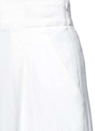 Detail View - Click To Enlarge - Haider Ackermann - 'Phaseolus' pleat front crepe pants