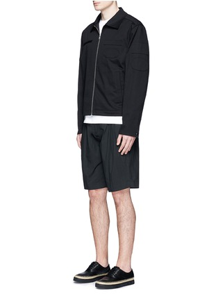Figure View - Click To Enlarge - Alexander Wang  - Double pleated front shorts