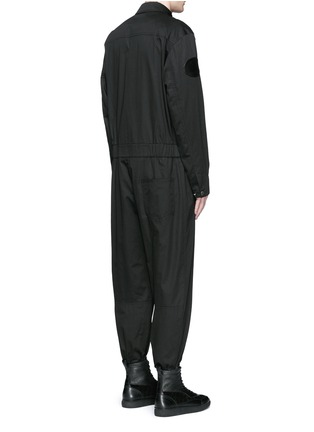 Back View - Click To Enlarge - Alexander Wang  - Leather patch appliqué jumpsuit