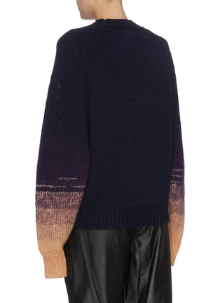 Back View - Click To Enlarge - DRIES VAN NOTEN - 'Tavion' ombré cuff sweater