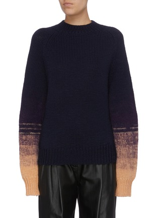 Main View - Click To Enlarge - DRIES VAN NOTEN - 'Tavion' ombré cuff sweater