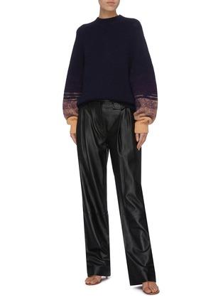 Figure View - Click To Enlarge - DRIES VAN NOTEN - 'Tavion' ombré cuff sweater