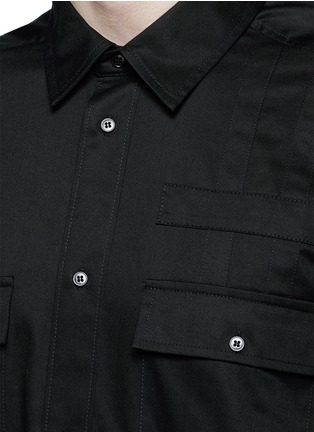 Detail View - Click To Enlarge - Alexander Wang  - Patch appliqué cotton twill shirt