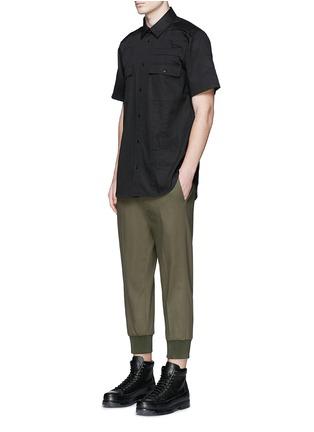 Figure View - Click To Enlarge - Alexander Wang  - Patch appliqué cotton twill shirt