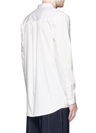 Back View - Click To Enlarge - Alexander Wang  - Logo patch pocket long twill shirt