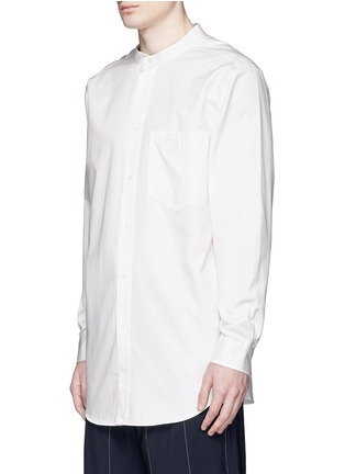 Front View - Click To Enlarge - Alexander Wang  - Logo patch pocket long twill shirt