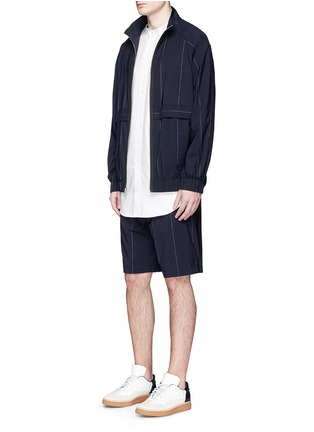 Figure View - Click To Enlarge - Alexander Wang  - Logo patch pocket long twill shirt