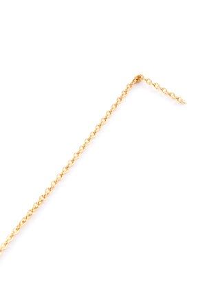 Detail View - Click To Enlarge - SHIHARA - 'Chain' 18k yellow gold drop earrings – 200mm