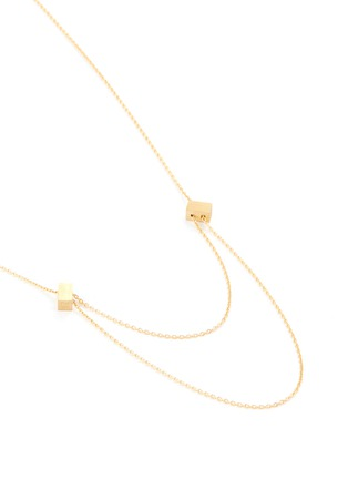 Figure View - Click To Enlarge - SHIHARA - 'Passage' cube charm 18k yellow gold necklace