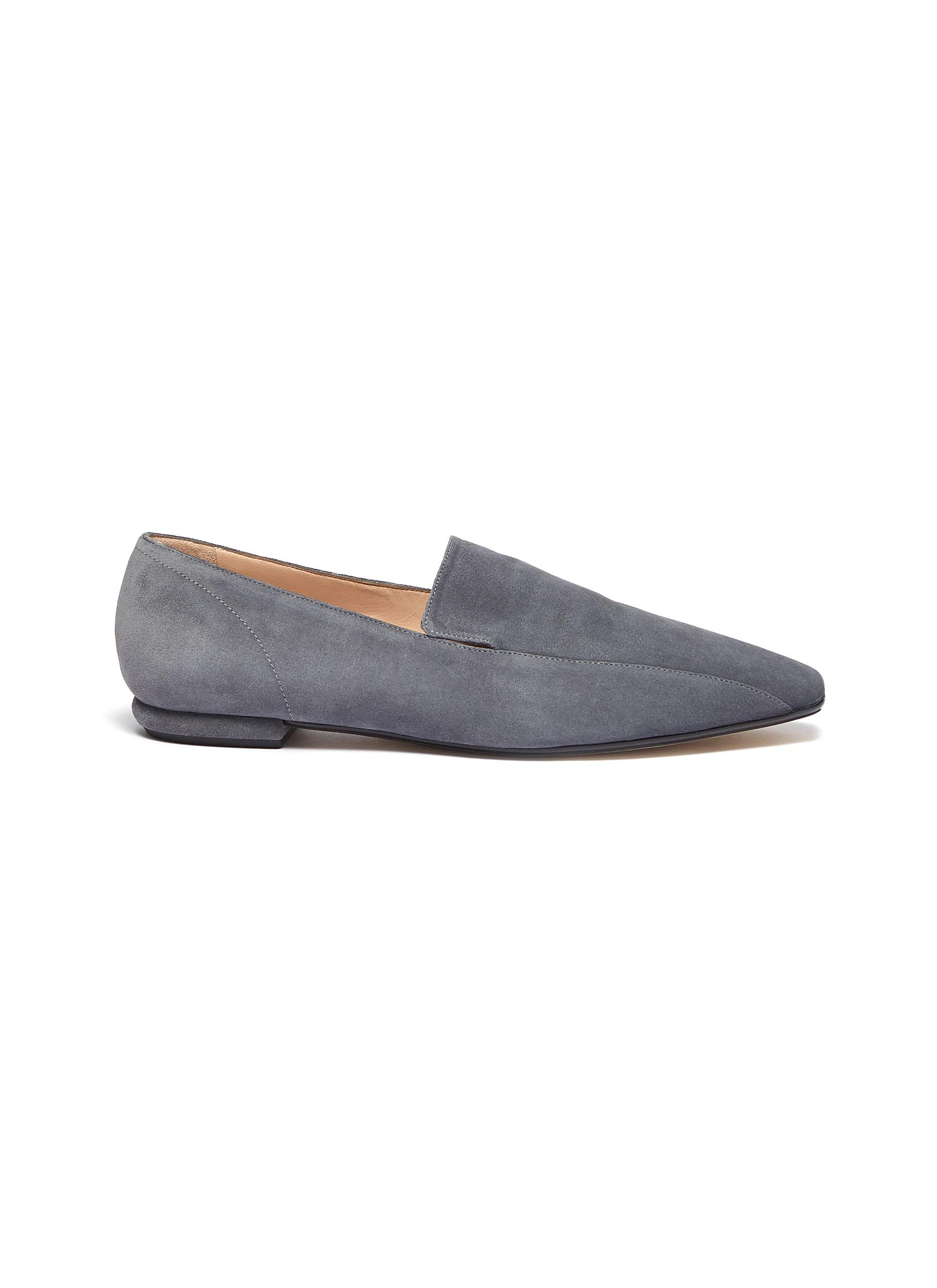 Suede square loafers by Rodo