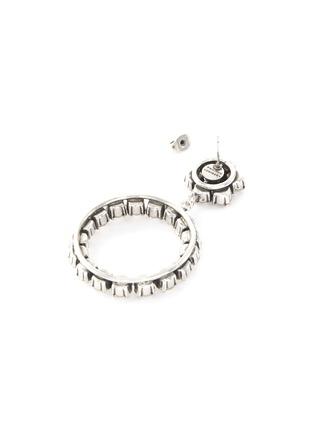 Detail View - Click To Enlarge - PHILIPPE AUDIBERT - 'Anneau' Swarovski crystal hoop drop earrings