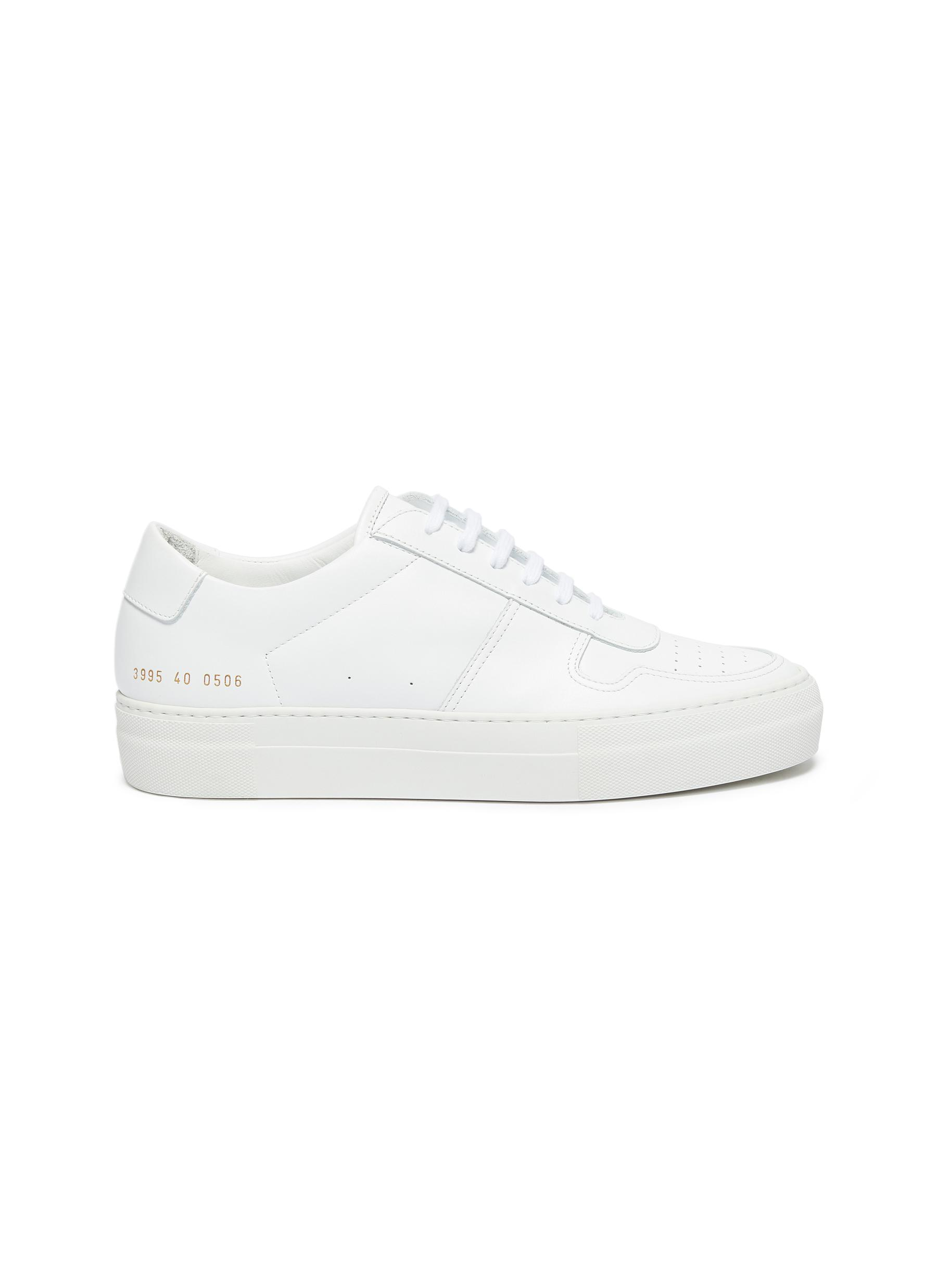 B Ball platform leather sneakers by Common Projects